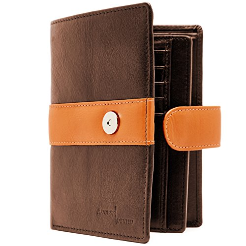 Genuine Leather RFID Passport Holder