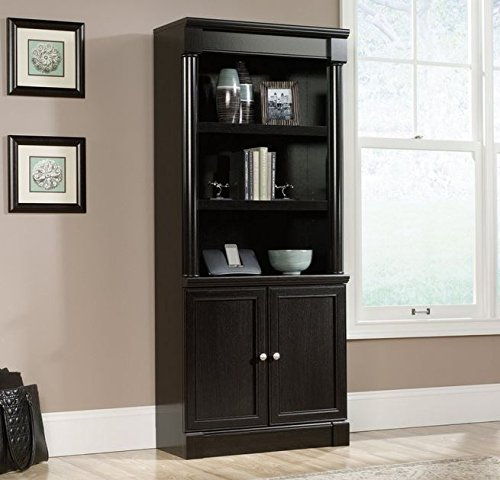 Sauder 416515 Bookcases, Furniture Palladia Library with Doors by Sauder