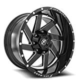 XF-205 20x10 5x5/5x5.5 -24mm Offset 87.1 CB Black Machined