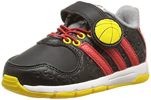 adidas Disney Mickey Unisex Baby Sneaker Noir (Core Black/Vivid Red/Super Yellow)