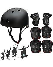 SymbolLife Skateboard/Skate Helmet with Protective Gear Knee Pads Elbow Pads Wrist Guards for Kids/Youth BMX/Skateboard/Bike