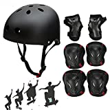 SymbolLife Skateboard / Skate Helmet with Protective Gear Knee Pads Elbow Pads Wrist