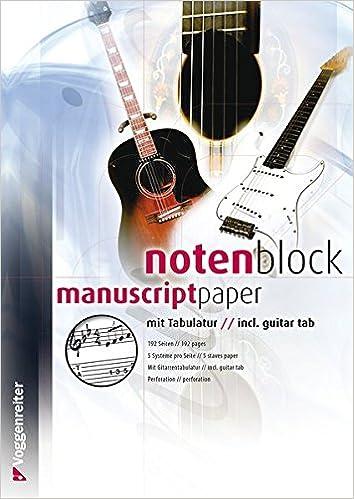 Notenblock mit Tabulatur (Voggenreiter Verlag): Amazon.de ...