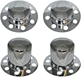 mag wheel center caps - Eagle Alloys Dually Wheel Rim Center Cap Set No Logo Chrome Replaces 3108 3109