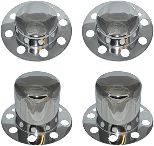 (Eagle Alloys Dually Wheel Rim Center Cap Set No Logo Chrome Replaces 3108 3109)