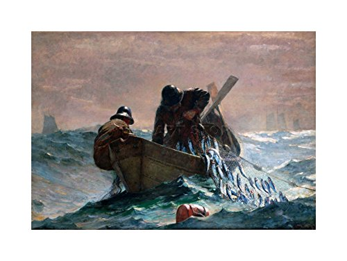 WINSLOW HOMER HERRING NET OLD MASTER PAINTING ART PRINT PICTURE F12X1928