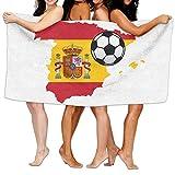 Unisex Spain Map Flag Design Personalised Custom Bath Towels 100% Polyester,Superfine Fiber Super Absorbent,for Home/Bathrooms/Pool/Gym (31'' 51'')