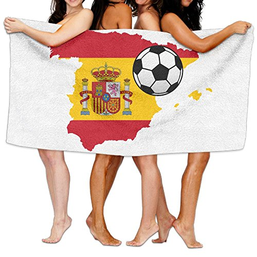Unisex Spain Map Flag Design Personalised Custom Bath Towels 100% Polyester,Superfine Fiber Super Absorbent,for Home/Bathrooms/Pool/Gym (31'' 51'') by TRUSKC
