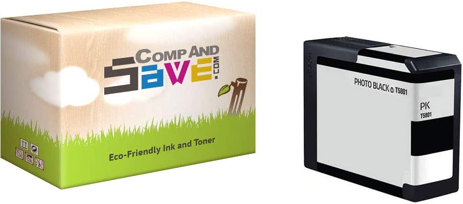 CompAndSave Replacement for Epson T580100 Photo Black Ink Cartridge