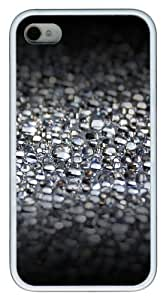 iPhone 4S Case,Water Bubbles TPU Custom iPhone 4/4S Case Cover Whtie