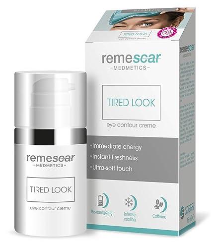 Remescar - Mirada cansada - Crema para los ojos hinchados o cansados - Crema de ojos antienvejecimiento para líneas de expresión y arrugas finas