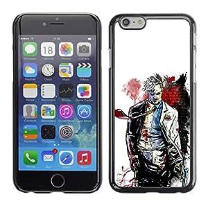 Caucho caso de Shell duro de la cubierta de accesorios de protección BY RAYDREAMMM - Apple Iphone 6 Plus 5.5 - Cara Tw0 - Bat Superhero