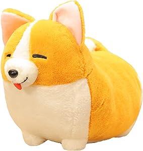 123Arts Cartoon Corgi Dog Soft Plush Throw Pillow Animal Pillow Plush Toy for Gift