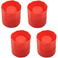 ISKYBOB 4 Pieces Ice Shot Glass Mold Red Silicone Ice Cup Trays Dessert Supplies Resin Maker Bar Gadget