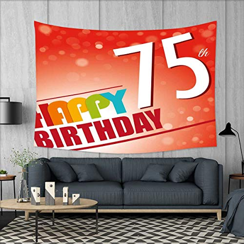 smallbeefly 75th Birthday Tapestry Wall Hanging 3D Printing