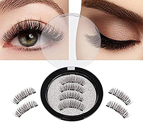 8bef7a078c1 Buy SOZZUMI Handmade Natural 3D Magnetic Thick Long False Reusable Eyelashes  Extension(LONG) Online at Low Prices in India - Amazon.in