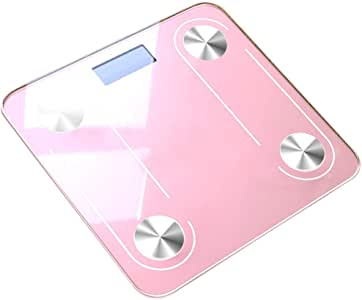V-OPQ Digital Scale, Smart Body Fat Scales,Body Composition Analyzer Monitor,for BMI,Visceral Fat,Muscle,Body Age Etc,Smart APP For Fitness Tracking,For Home (Color : Pink)