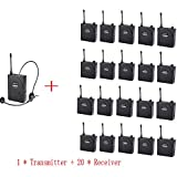 FLZXJY Takstar Wireless tour guide system,voice transmission system for meeting,visit,training, 1 Transmitter 20 receiver