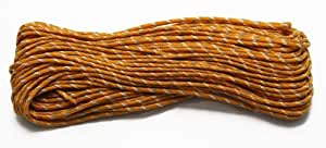 Reflective & Glow in Dark Nylon Paracord - 7 Strand 550 Type III Commercial Grade (Golden Rod, 50 Ft.)