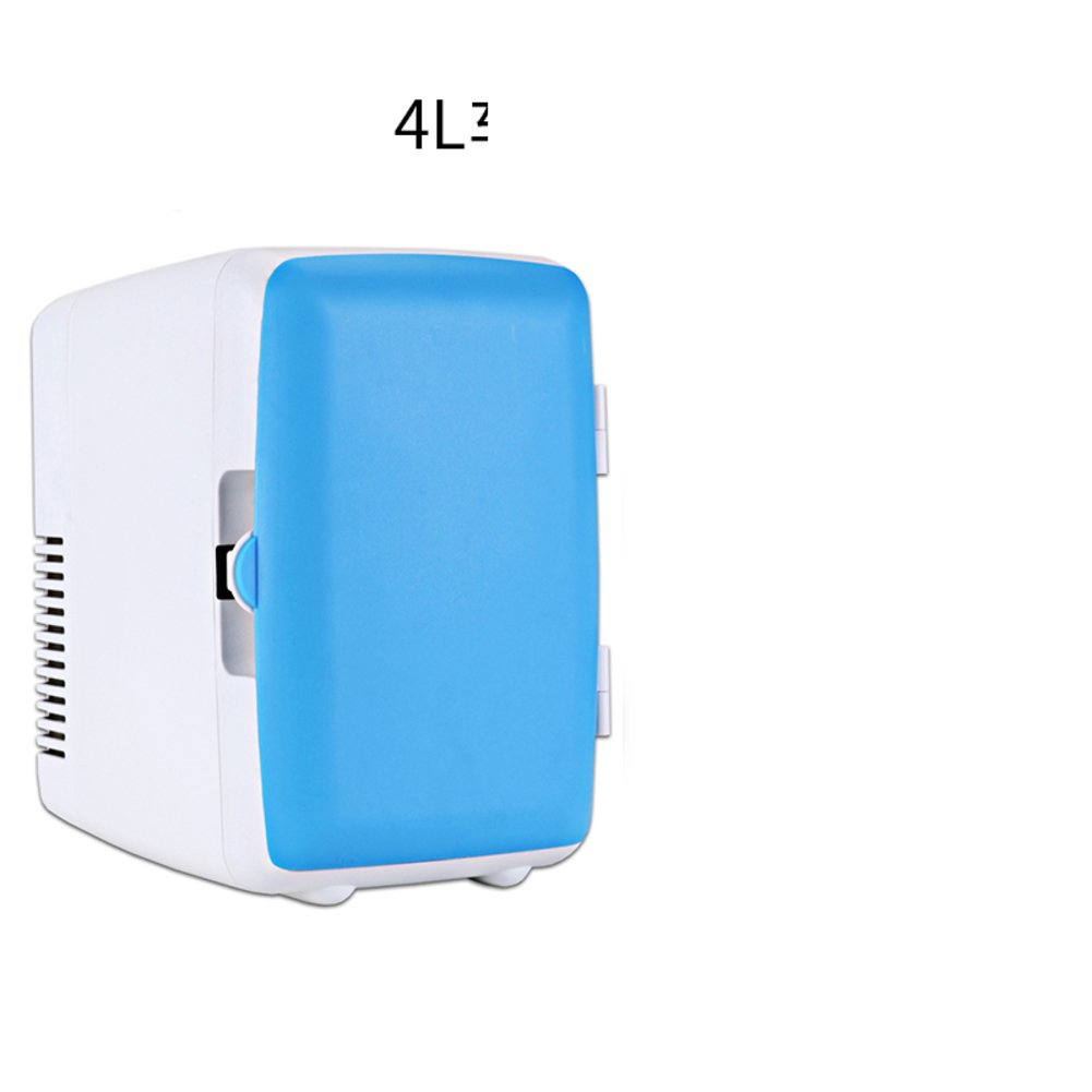 4 l ミニ冷蔵庫,家の小さな冷蔵庫学生寮化粧品胸牛乳冷蔵庫ポータブル冷蔵庫コンパクト-青 18x23x24.5cm(7x9x10inch)   B07DMG2QYT