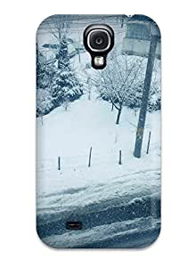 New Winter Outside Snow Roads Buildings Vignette Kids Jackets Dresses Shoes Vacations Season Coats Fall Nature Winter Tpu Case Cover, Anti-scratch Kyle Shaner Phone Case For Galaxy S4
