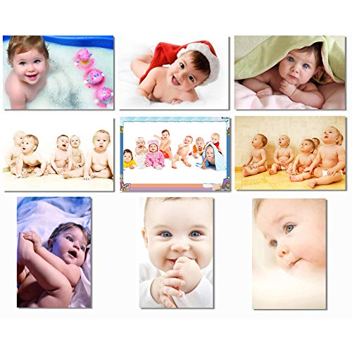 SmartWallStation 9X Babyhood Baby Kids Boys Child Cute Mother Mom Mama Pregnancy Wall Silk Poster Big Room Prints 20x13 (50x33cm) E399(01-09)