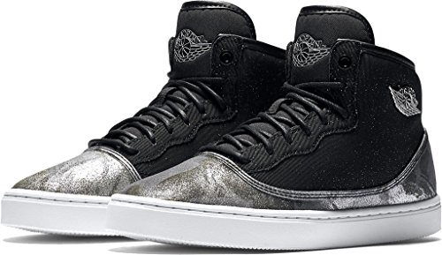 Nike JORDAN JASMINE PREM HC GG girls fashion-sneakers 807711-030_8Y - BLACK/METALLIC SILVER-WHITE-GYM RED by NIKE
