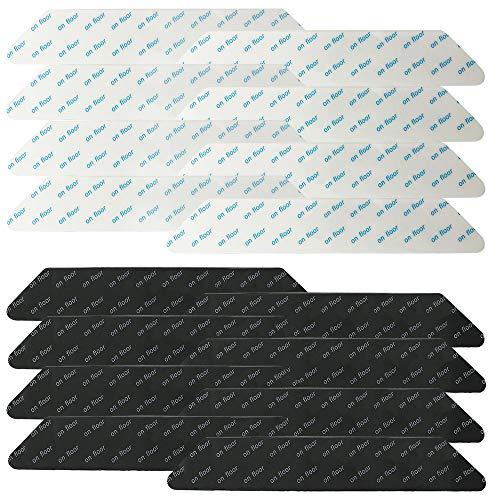 FineGood - Juego de 16 pinzas antideslizantes para alfombras, lavables, reutilizables, antideslizantes, para suelos de madera dura