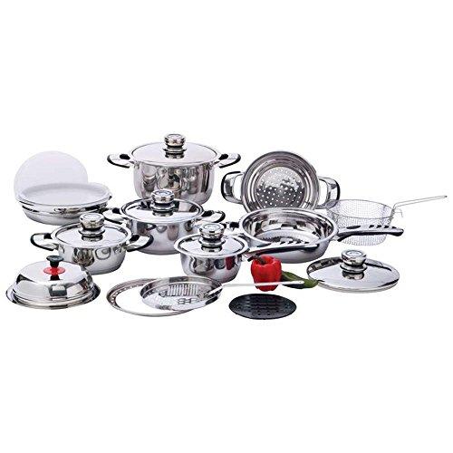 Chef's Secret KT22 22 Piece 12-Element, Stainless Steel Cookware Set ()