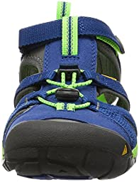 KEEN Seacamp II CNX Sandal (Toddler/Little Kid), True Blue/Jasmine Green, 9 M US Toddler