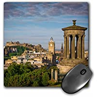 3D Rose Early Morning At Dugald Stewart Monument Edinburgh Scotland Matte Finish Mouse Pad - 8 x 8 - mp_228079_1