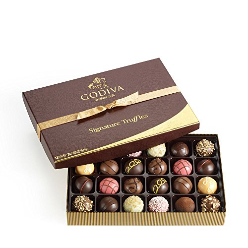 Godiva Chocolatier Signature Chocolate Truffles Gift Box, Classic, 24 Piece (Godiva Chocolates Online)