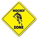 HOCKEY ZONE Sign Decal Sticker