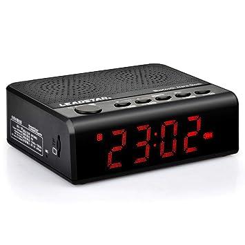AOVOI Reloj Bluetooth estéreo, Tarjeta Audio USB subwoofer ...