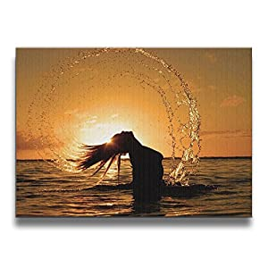 Shannon BrownriceS Sexy Girl And The Sunset Wooden Frameless Decor Canvas Wall Art Painting For Home,Living Room,Bedroom,office Modern Decoration 1620 Inches