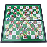 HTUK® Snakes And Ladders Board Game Traditional Children Games Foldable Board Magnetic Board Game