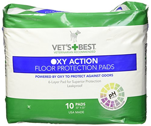 Vet's Best 10 Count Oxy Action Floor Protection Dog Pads