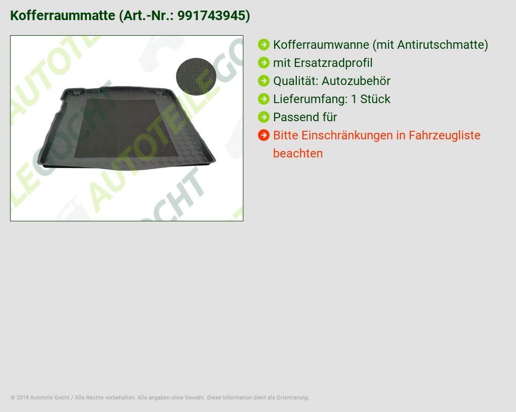 AZUGA Kofferraumwanne mit Antirutsch-Matte fahrzeugspezifisch