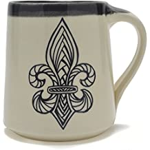 Great Bay Pottery Fleur de lis Coffee Mug