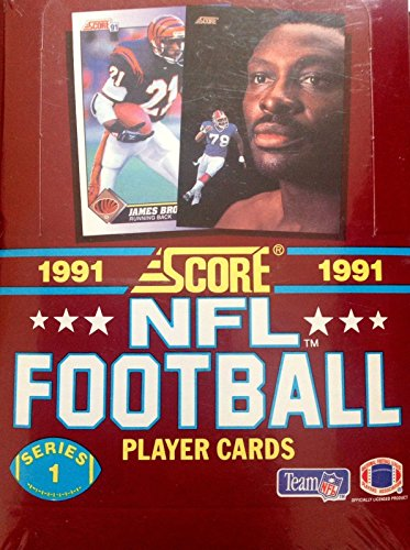 Score Series 1 Football - 1991 NFL Football Player Cards Series 1 Sealed Box