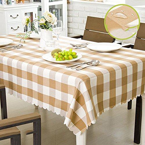 Nappe Imperméable à L'eau Tissu Coton Et Lin Style Nappes Minimaliste Moderne épaississeHommest Nappes à La Maison Nappes à Manger, 8,130180Cm