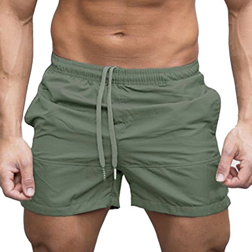 Clearance Sale! Men Pants WEUIE Fashion Men's Cotton Shorts Pants Gym Sport Jogging Trousers (Khaki Apparel)