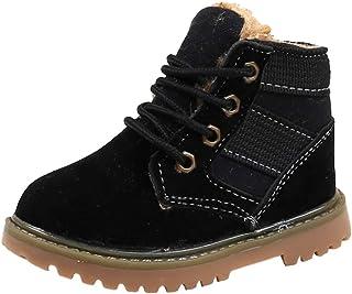 junkai Scarponi da Neve per Bambini Scarpe di Cotone Winter Warm Matain Boots Toddler School Shoes