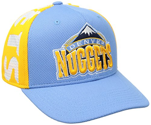 fan products of NBA Denver Nuggets Men's City Name Meshback Flex Fit Hat, Blue, Small/Medium