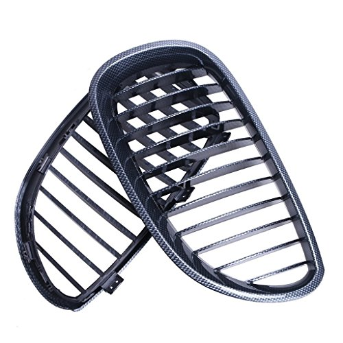 E60 Carbon (Carbon Fiber Black Front Kidney Grill Grille For BMW 5 Sries E60 2003-2009)