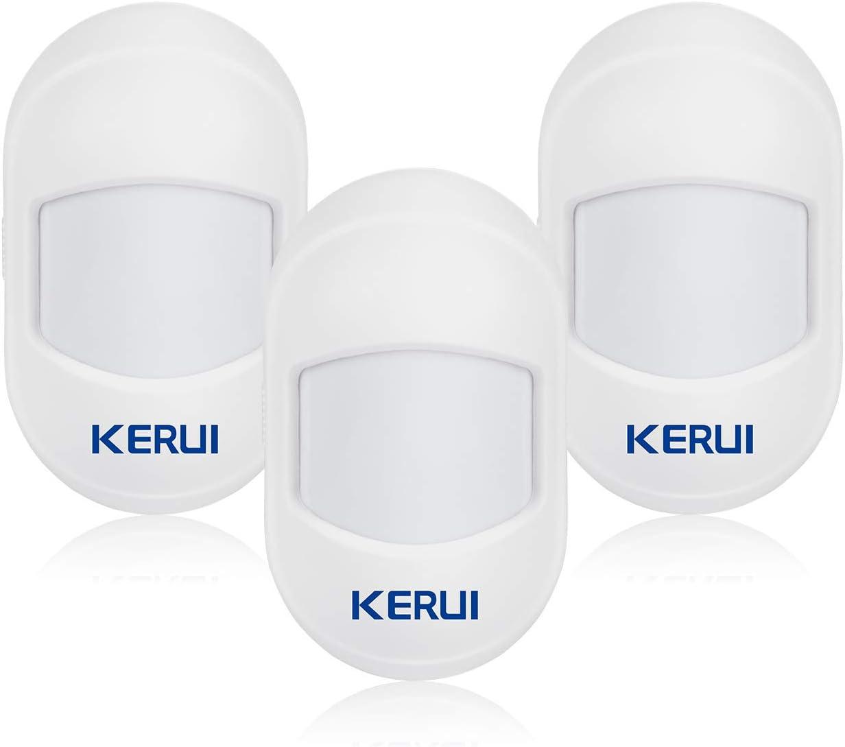 KERUI HW10 Mini Sensor/Detector Movimiento PIR Inalámbricos, Kit de Alarma Antirrobo, 433m, Compatible con Sistema de Alarma de Seguridad gsm/WiFi KERUI para Hogar/Tienda/Garaje/Oficina/Autocaravana