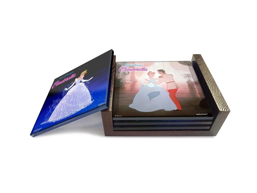 Cinderella Disney StarFire Prints Glass Coaster Set with holder Trend Setters Ltd SPCSTR267