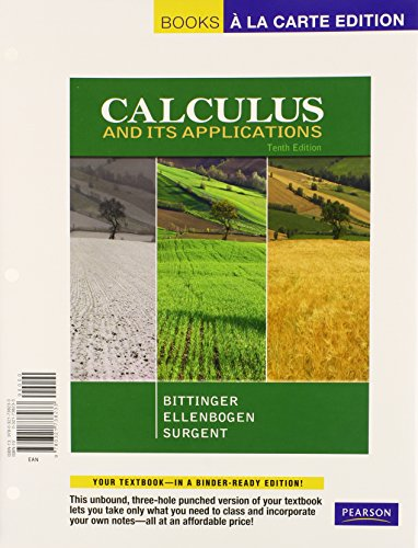 Calculus With Applications + MyMathLab Student Access Kit: Books a La Carte Edition