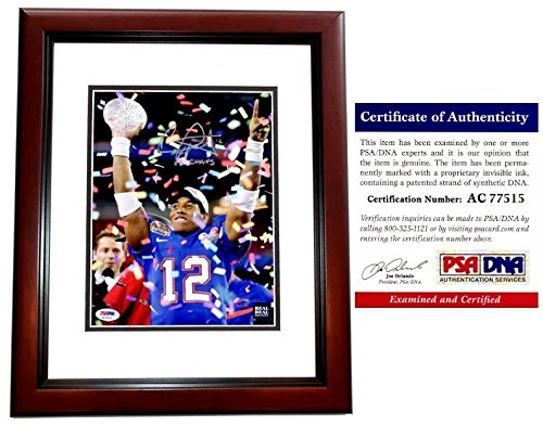 Chris Leak Autographed Signed Florida Gators UF 8x10 inch 2006 Championship Photo Mahogany Custom Frame - 2006 BCS MVP and National Champs - PSA/DNA Authentic