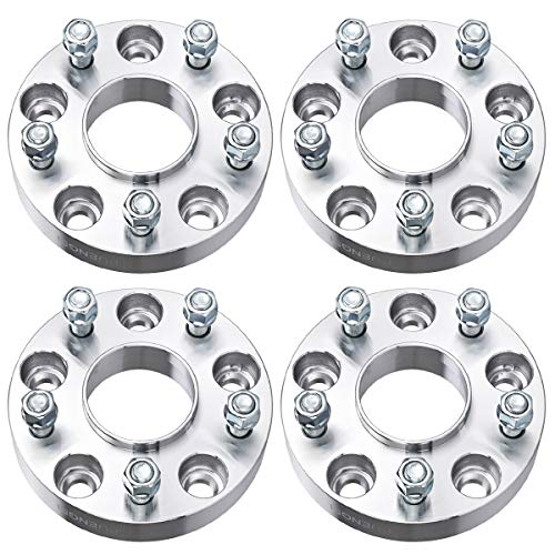 PUENGSI Wheel Spacer fits for Jeep Wrangler Rubicon Sport Jeep Cherokee XK JK WK 1.25 inch 5x5 to 5x5/5x127mm to 5x127mm 4PCS Thread Pitch 1/2